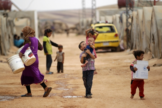 The Middle East's refugee crisis didn't suddenly start because of a drought. Khalil Ashawi/Reuters