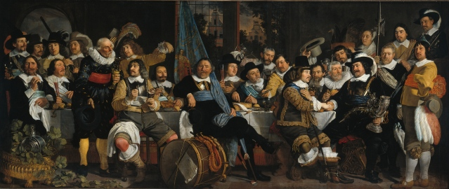 Here's to cheap energy. 'The celebration of the peace of Münster' Bartholomeus van der Helst, 1648